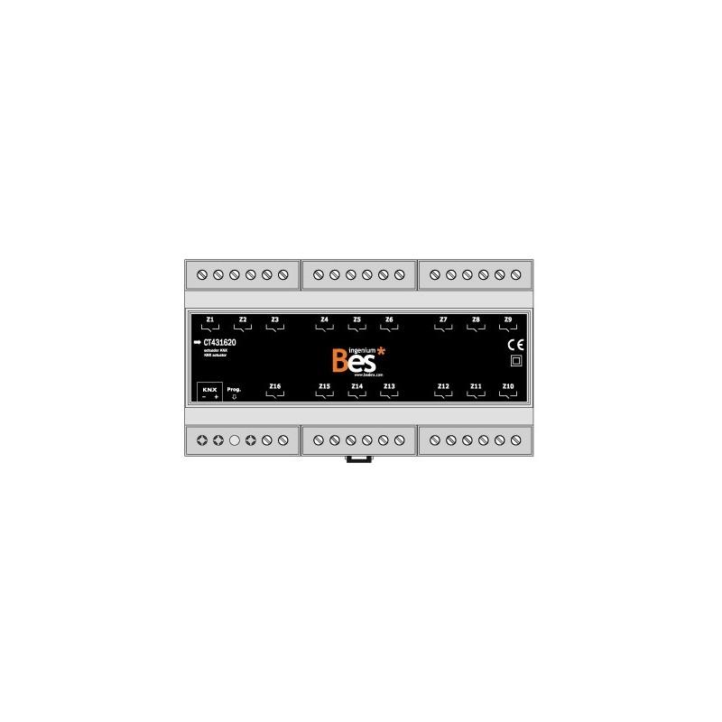 Actuador binario - 16 salidas 16 A - Formato DIN