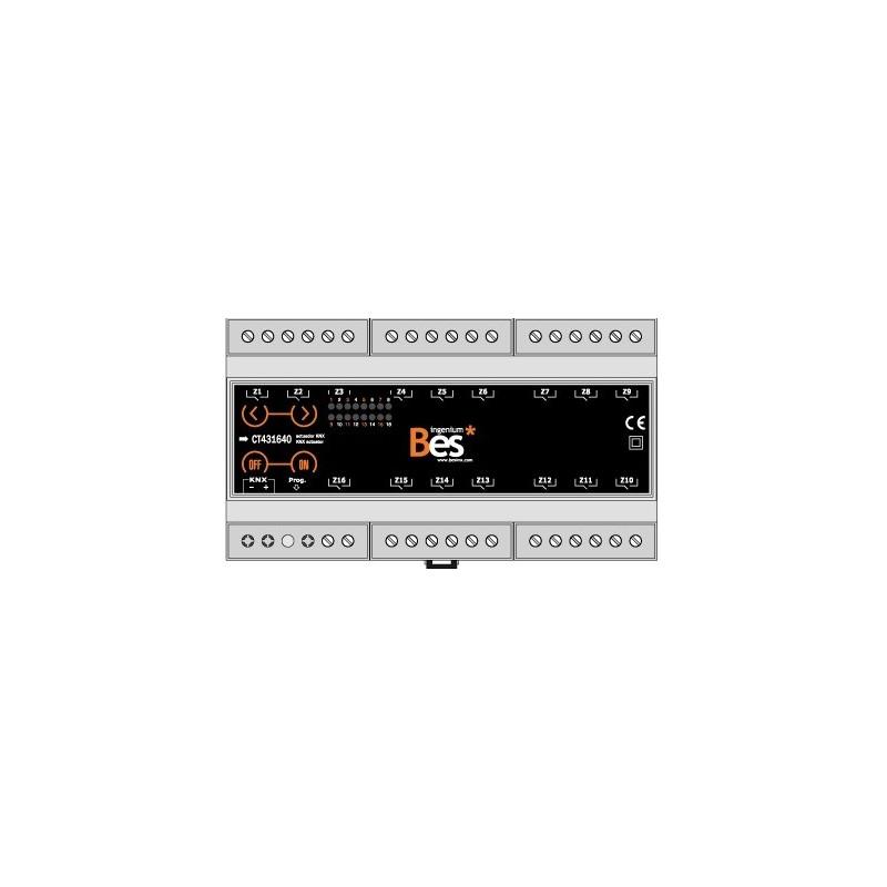 Actuador binario - 16 salidas 16 A - Formato DIN - Control manual