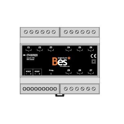 Actuador binario - 9 salidas 16 A - Formato DIN