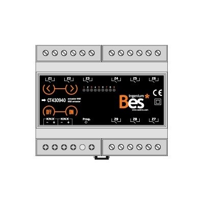 Actuador binario - 9 salidas 16 A - Formato DIN - Control manual