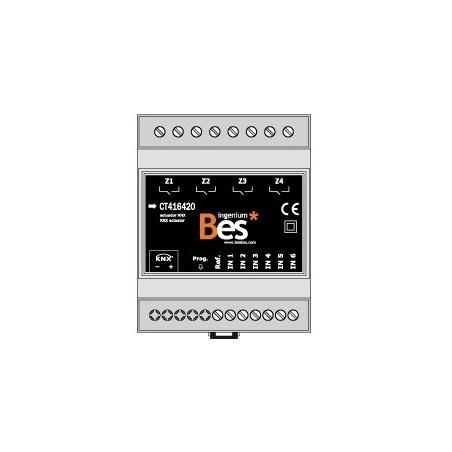Actuador binario - 6 entradas - 4 salidas 16 A - Formato DIN