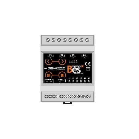 Actuador binario - 6 entradas - 4 salidas 16 A - Fto. DIN - Control manual