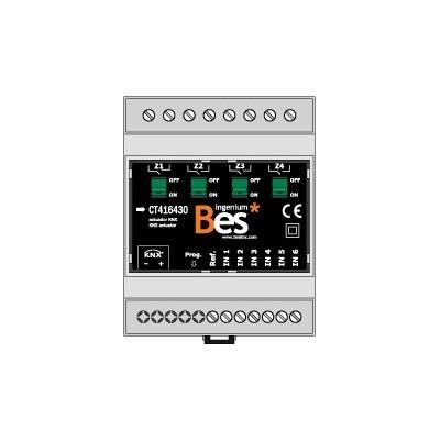 Actuador binario - 6 entradas - 4 salidas 30 A - Formato DIN
