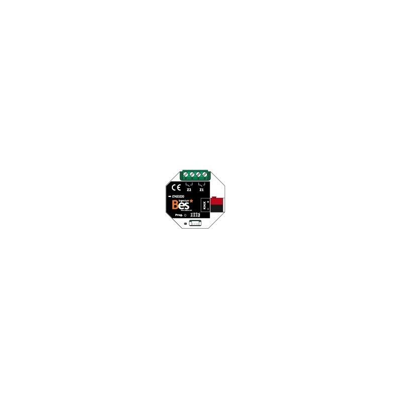 Actuador binario - 3 entradas - 2 salidas 16 A - Formato empotrar