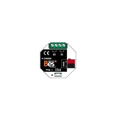 Actuador binario - 2 entradas - 2 salidas 16 A - Formato empotrar