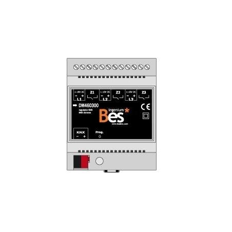 Dimmer de 3 canales para balastos - 1-10 V - Formato DIN