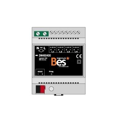 Dimmer de 4 canales con señal 0-10 V - Formato DIN