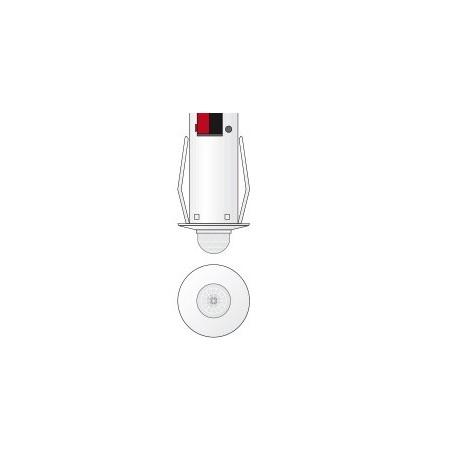 Detector movimiento IR - LUX umbral - Empotrado - Blanco