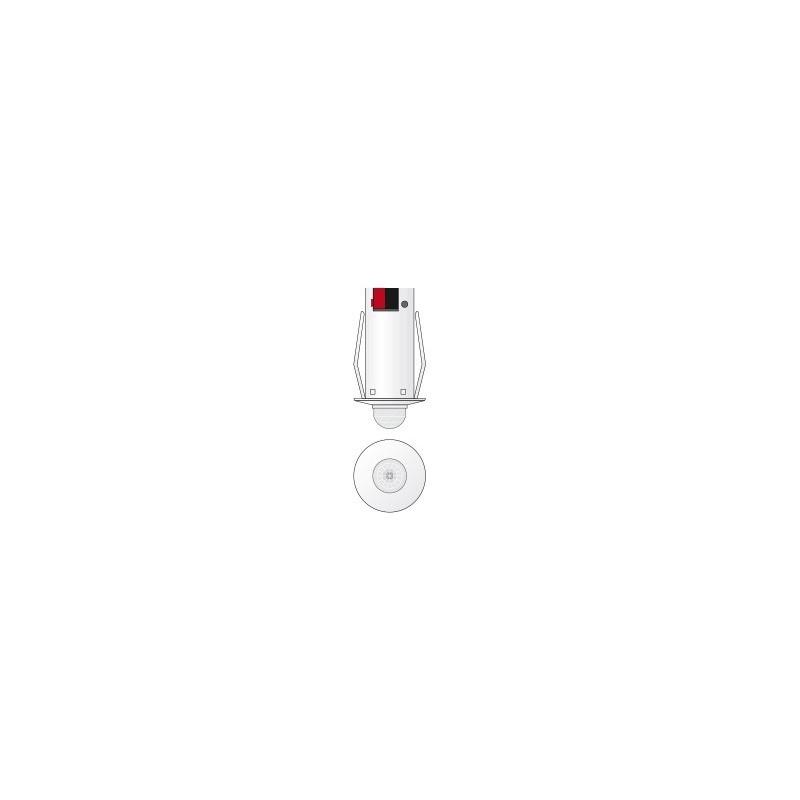 Detector movimiento IR - LUX umbral - Empotrado - Negro