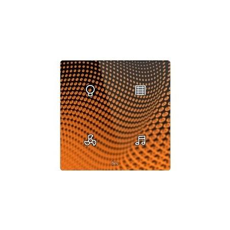 Pulsador táctil cuadrado - 4 áreas - Sensor temperatura y humedad - Negro personalizado