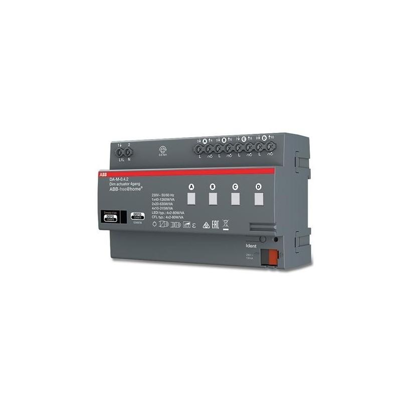 Actuador DIN 4 canales 230V