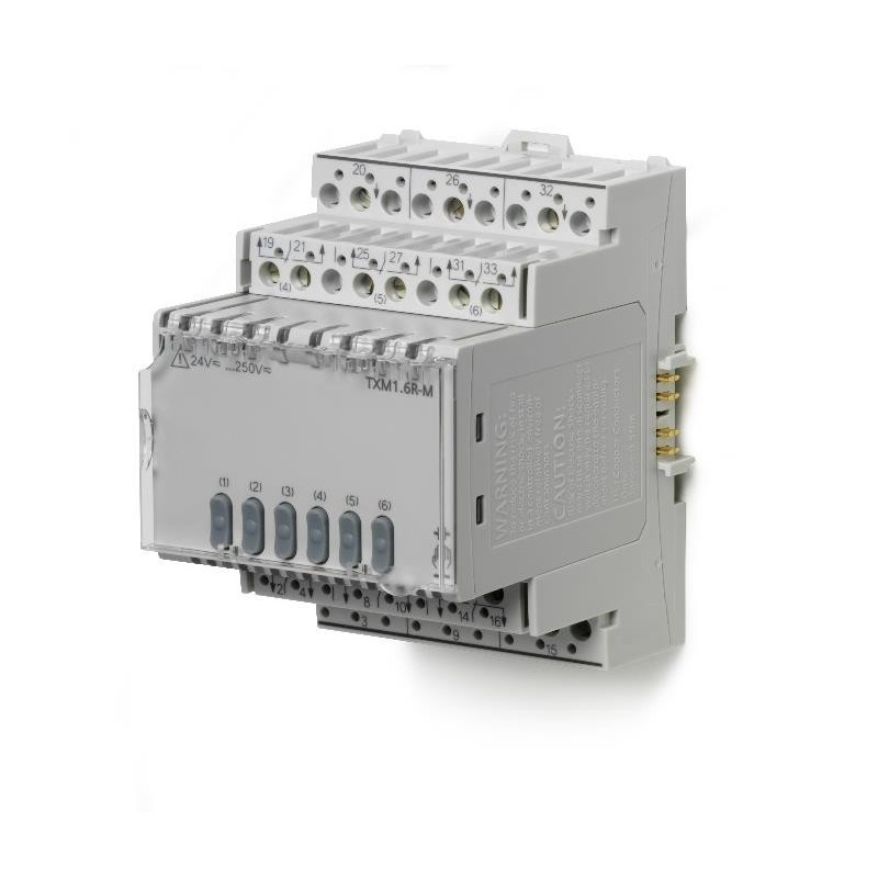 TXM1.6R-M - Módulo de 6 salidas relés con mando manual