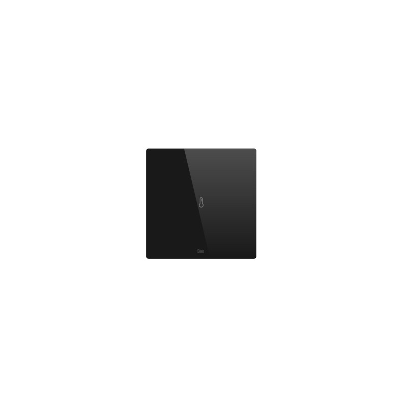 Termostato cuadrado - Sensor temperatura - Negro