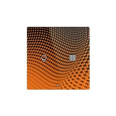 Pulsador táctil cuadrado - 2 áreas - Sensor temperatura y humedad - Blanco personalizado