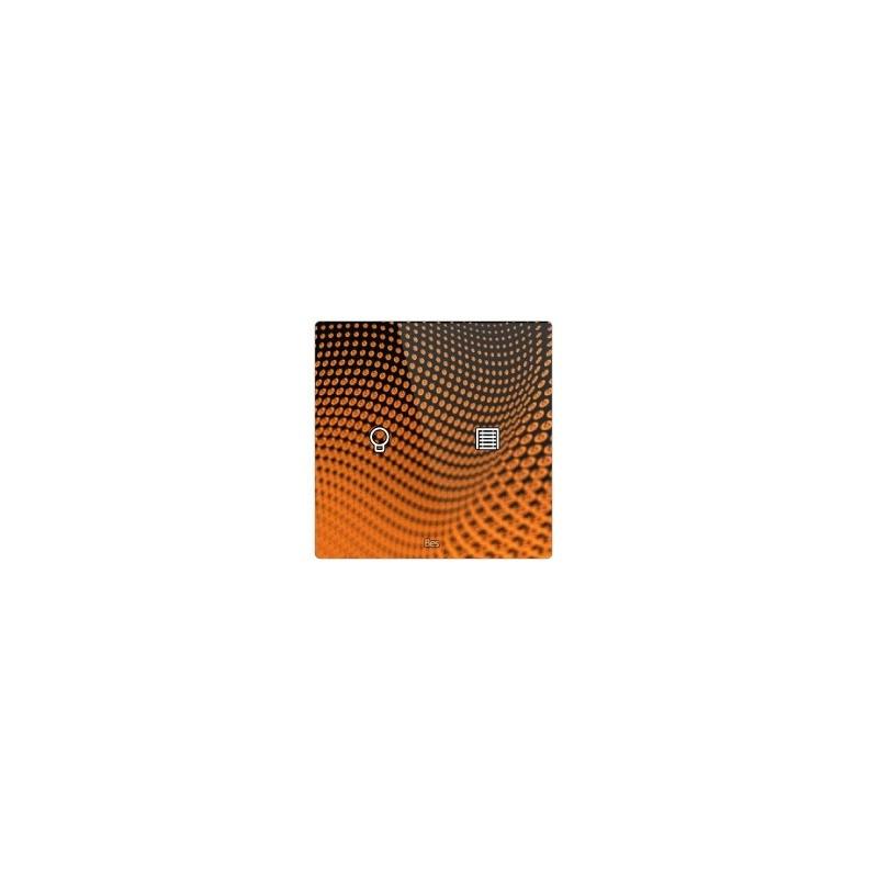 Pulsador táctil cuadrado - 2 áreas - Sensor temperatura y humedad - Negro personalizado