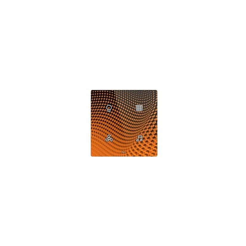 Pulsador táctil cuadrado - 4 áreas - Sensor temperatura y humedad - Blanco personalizado