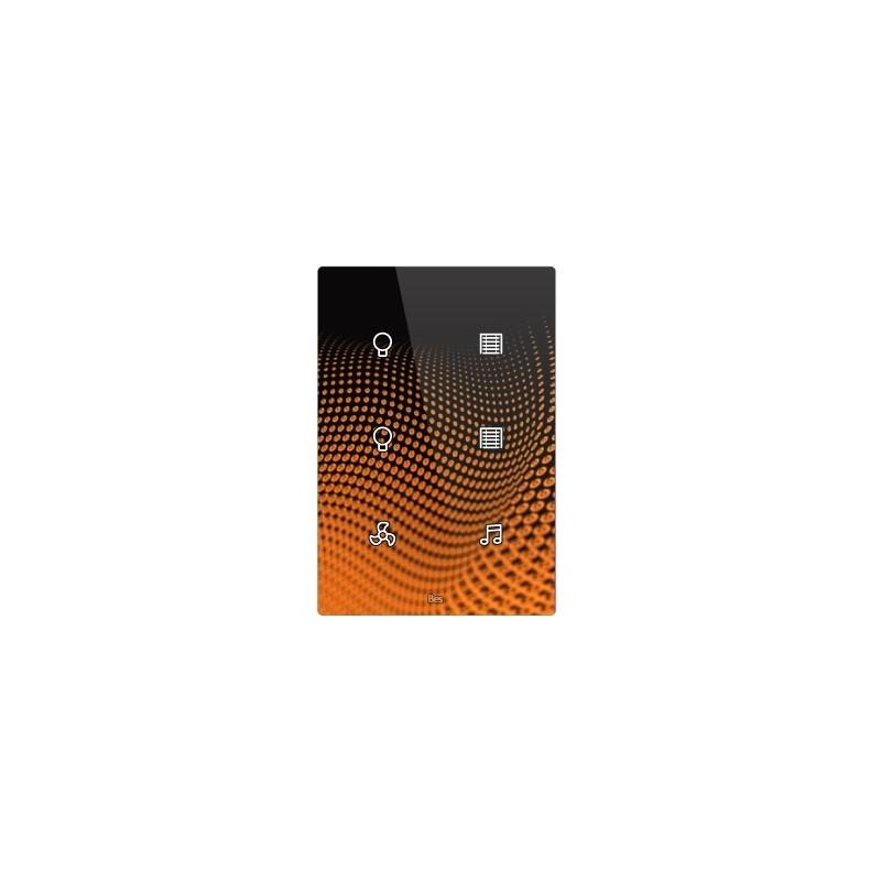 Pulsador táctil vertical - 6 áreas - Sensor temperatura y humedad - Blanco personalizado
