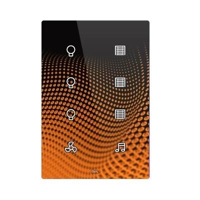 Pulsador táctil vertical - 8 áreas - Sensor temperatura y humedad - Blanco personalizado