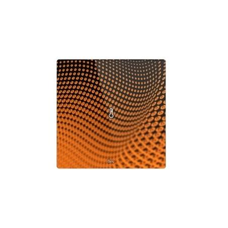 Termostato cuadrado - Sensor temperatura y humedad - Blanco personalizado