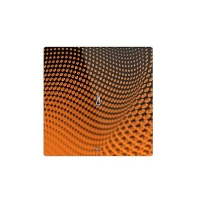 Termostato cuadrado - Sensor temperatura y humedad - Negro personalizado
