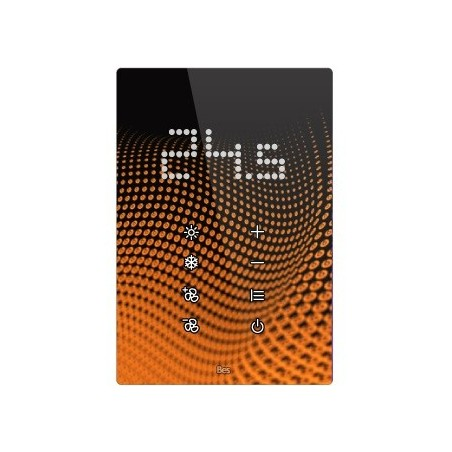 Termostato táctil vertical - Indicador LED integrado - Blanco personalizado