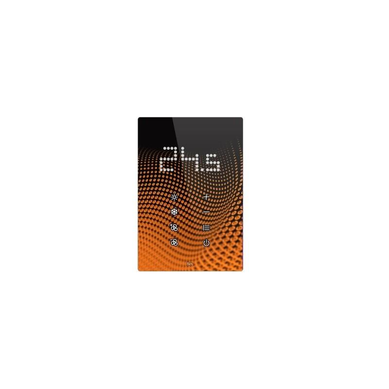 Termostato táctil vertical - Indicador LED integrado - Negro personalizado